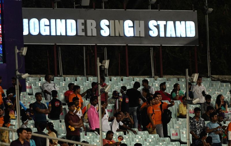 A stand named after martyr Joginder Singh at Eden Garden in Kolkata on April 28, 2017. - Joginder Singh