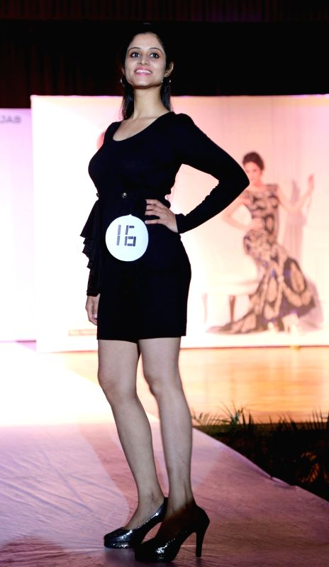 A student of Lovely Professional University walks the ramp during Campus Princess 2018 in Jalandhar, Punjab on Feb 2, 2018.