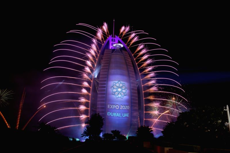 A stunning laser and digital 3D display accompanied by spectacular choreographed music organised at the world's most luxurious hotel Burj Al Arab as it celebrated 42nd United Arab Emirates (UAE) National Day in Dubai