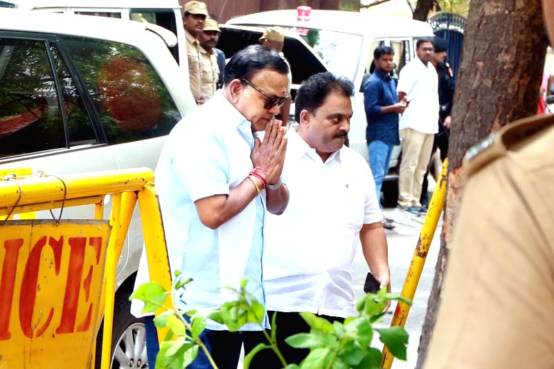 A team from Kauvery Hospital visits DMK President M. Karunanidhi at his Gopalapuram residence, in Chennai, on July 27, 2018. M. Karunanidhi (94) is suffering from urinary tract infection and ...