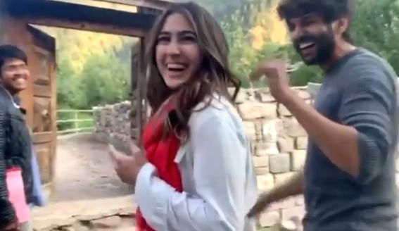 "A video of Bollywood actor Kartik Aaryan's fan calling actress Sara Ali Khan ""Bhabhi"" has gone viral. Kartik has shared a new video on Instagram, in which Sara is seen getting mildly irritated at being called ""bhabhi (sister-in-law)""."