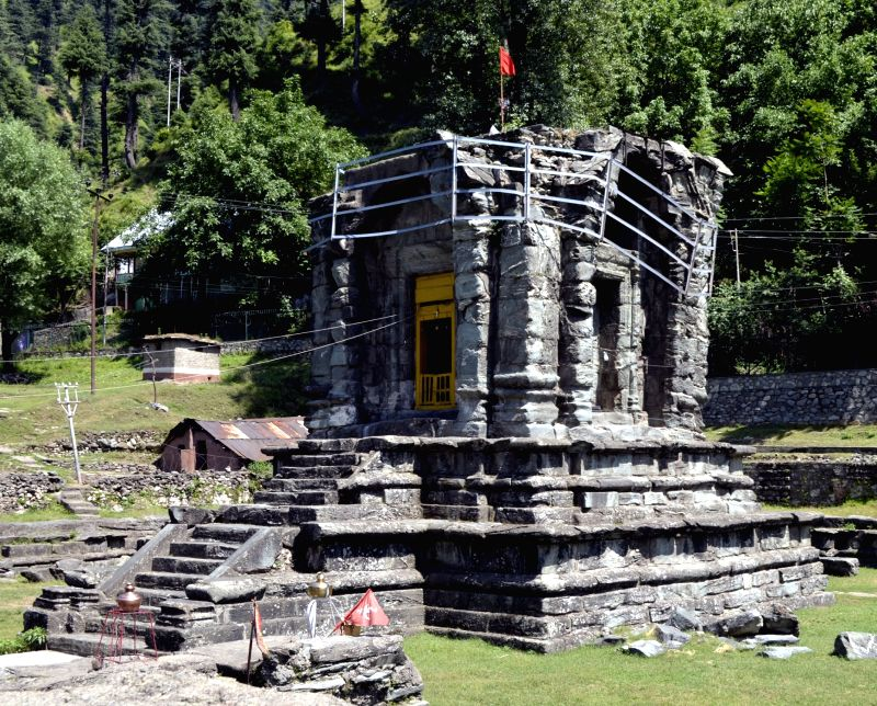 A view of a Pandora Temple in Mohara of Baramulla district, Jammu and Kashmir on June 1, 2016.