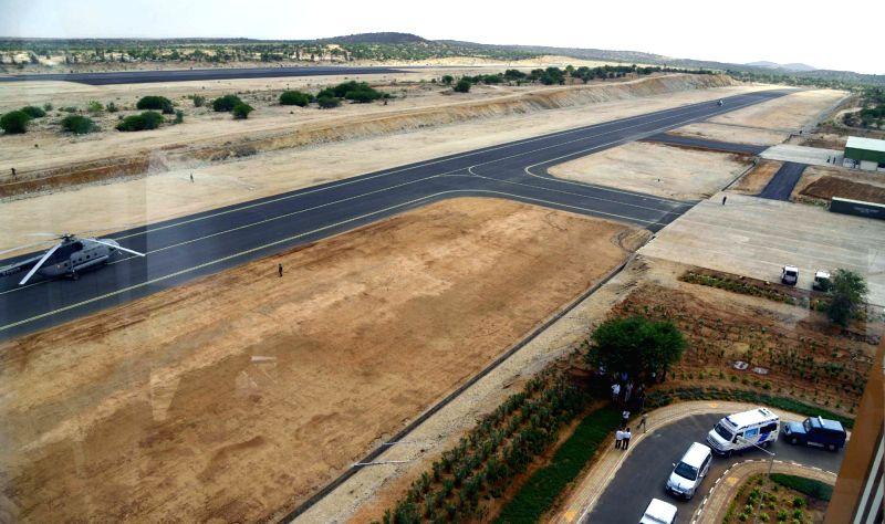 A view of Aeronautical Test Range in Challakere of Karnataka's Chitradurga district.