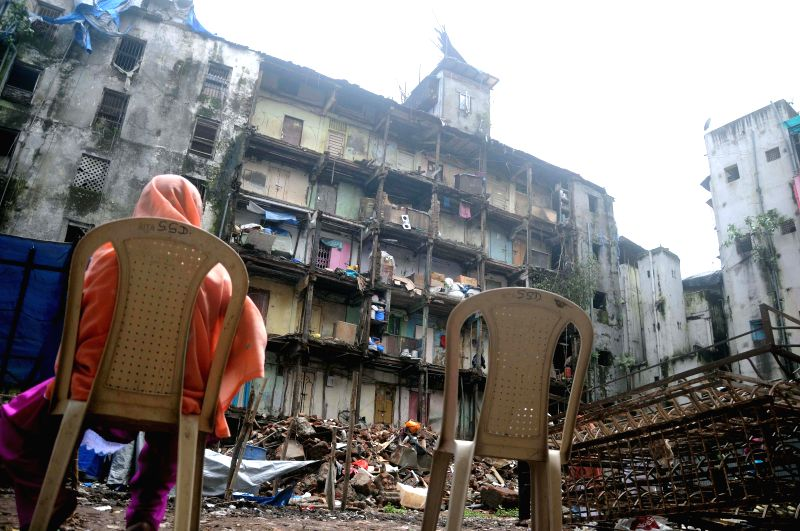 A view of an old building that collapsed on Mohammed Ali road of South Mumbai on Aug 5, 2014.