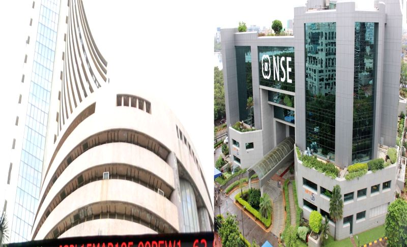A view of Bombay Stock Exchange (BSE) and National Stock Exchange (NSE)
