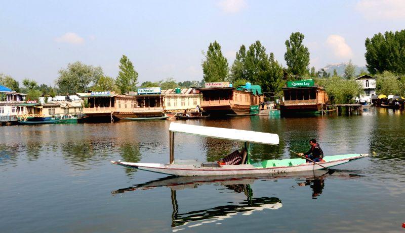 A view of Dal Lake in Srinagar on May 21, 2017.