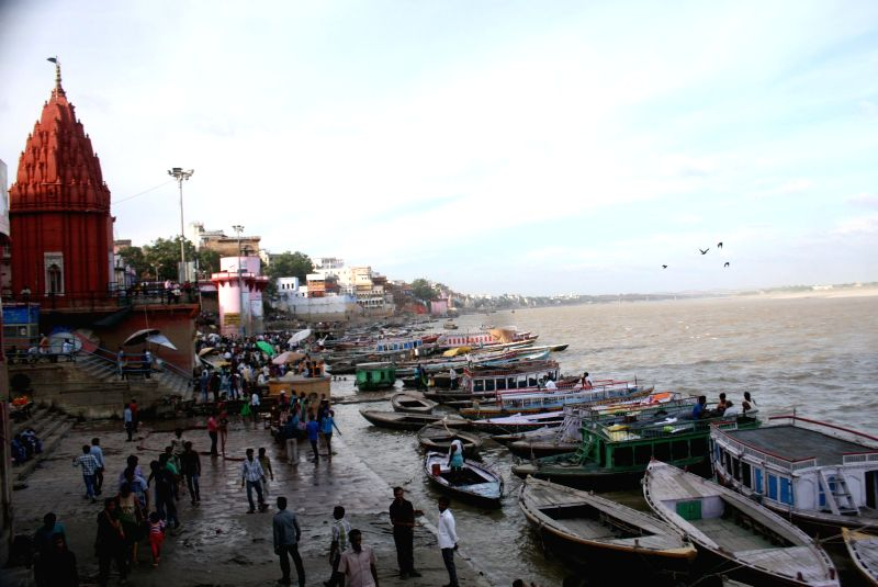 A view of Dashashwamedh Ghat in Varanasi on Sept 1, 2014.