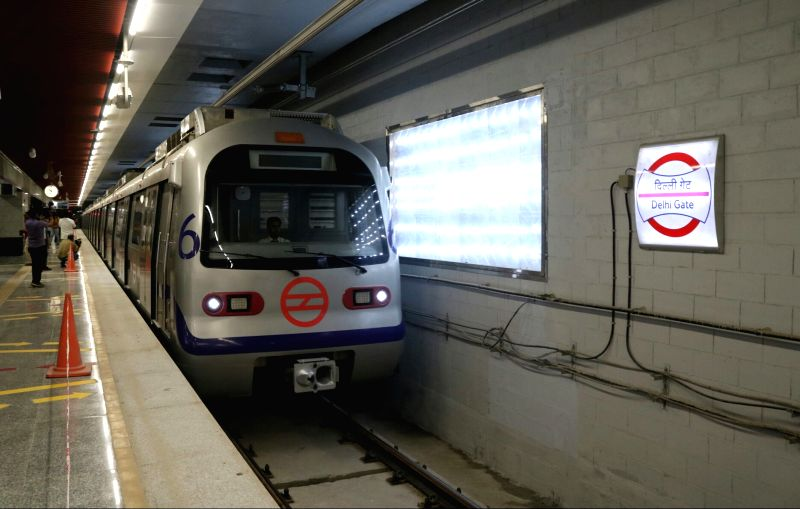 A view of Delhi Metro`s `Heritage line` in New Delhi, on May 25, 2017. This stretch of the Delhi Metro - an extension of the Violet Line (ITO-Escort Mujeser), will be operational from May ...