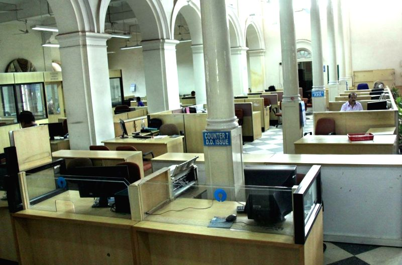 A view of deserted branch of State Bank of Mysore as employees go on a day long strike to press for their demands in Bengaluru, on May 20, 2016.