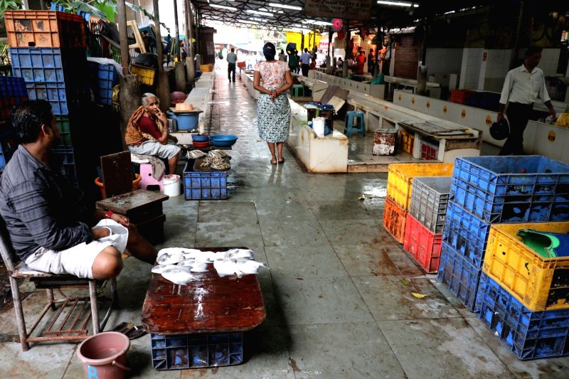 A view of deserted Panaji fish market after Goa Government imposed ban on imported fish, in Panaji, on July 20, 2018. The government ordered the ban following the reports of traces of ...