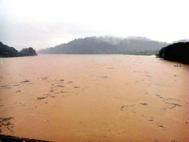 A view of flood hit Garo Hills on Aug 25, 2014.