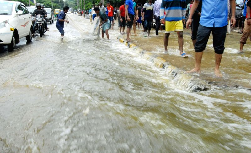 A view of flooded streets of Bengaluru after heavy rains in on July 29, 2016.