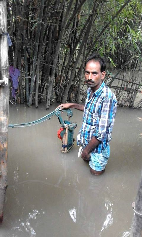 A view of flooded village in Katihar district of Bihar on July 27, 2016.