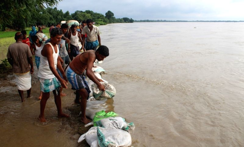 A view of flooded village in Kishanganj district of Bihar on July 26, 2016.