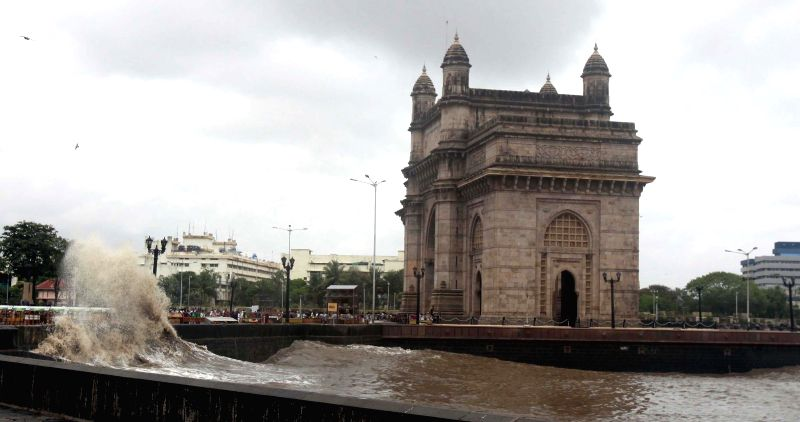 A view of Gateway of India in Mumbai on July 14, 2014.