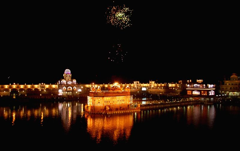 A view of Golden Temple on the birth anniversary of Guru Amar Das in Amritsar, on May 8, 2017.