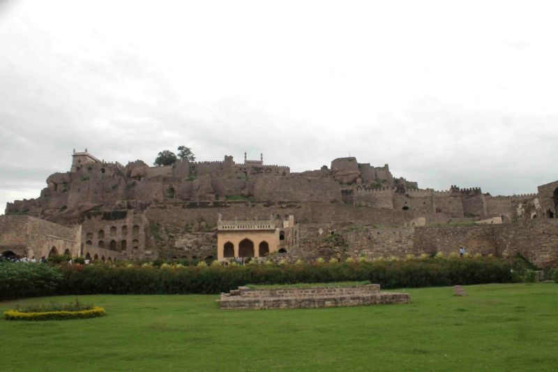 A view of Golkonda Fort in Hyderabad on Aug 4, 2014.