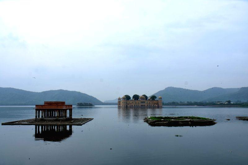 A view of Jal Mahal in Man Sagar Lake of Jaipur, on July 29, 2016.