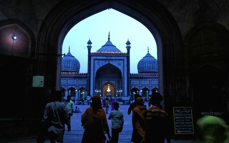 A view of Jama Masjid on the eve of Ramadan in New Delhi on May 27, 2017.