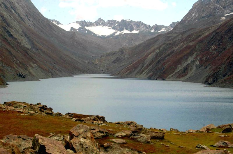 A view of Konsar Nag lake located in Pir Panjal Range of Himalayas in Jammu and Kashmir on August 1, 2014.