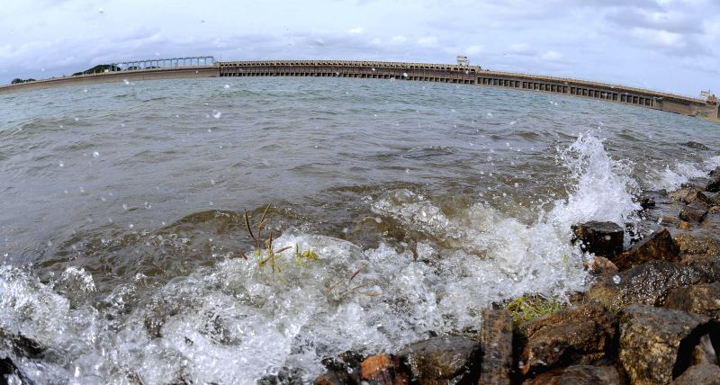 A view of Krishnaraja Sagar (KRS) Dam in Mysore on July 23, 2014.