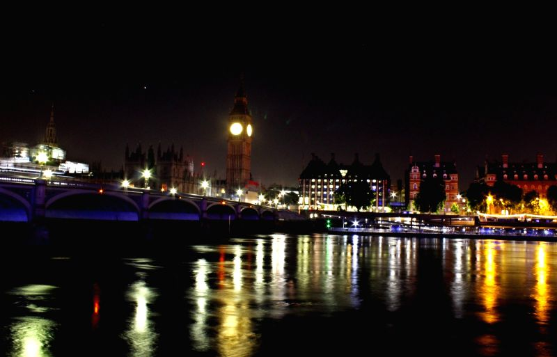A view of London's West Minister Bridge at night. (File Photo: Surjeet Yadav/IANS) - Bridge and Surjeet Yadav