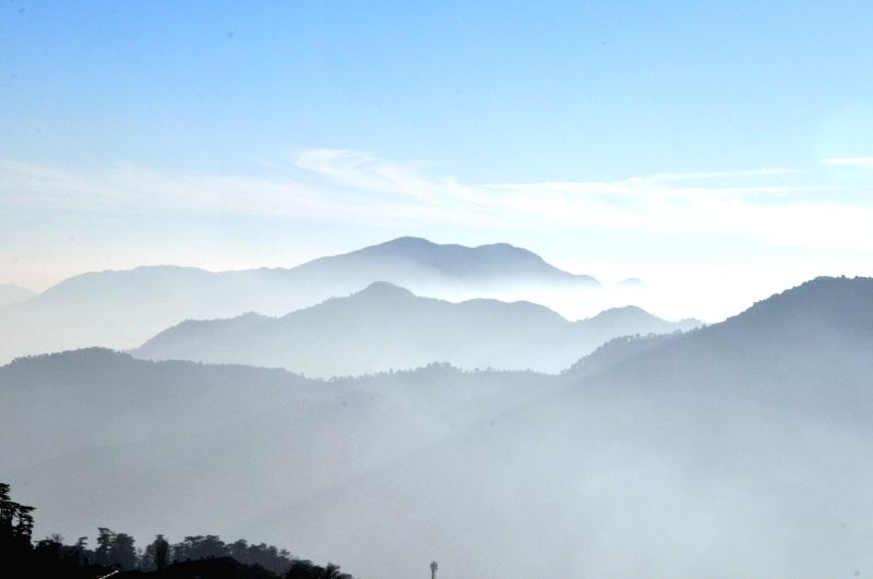 A view of mountains from Shimla.