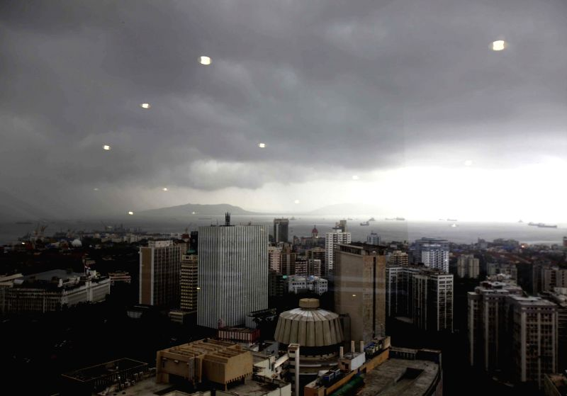 A view of Mumbai skyline during rains on July 7, 2014.