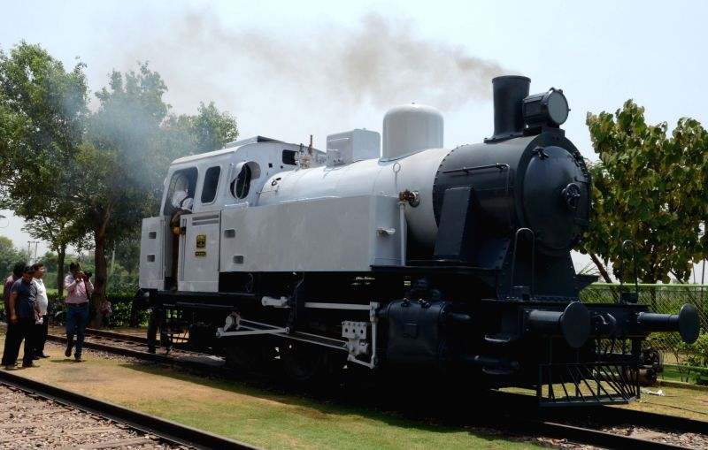 A view of restored 1953 Jung Steam Locomotive at the Heritage Transport Museum in Gurgaon on May 13, 2017.