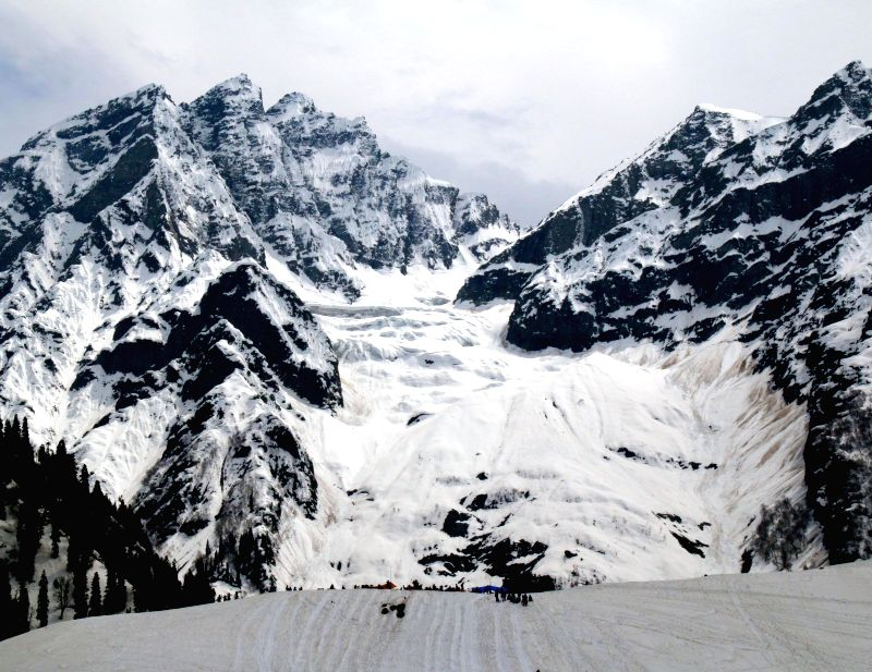A view of Sonamarg in Ganderbal district of Jammu and Kashmir on May 14, 2014.