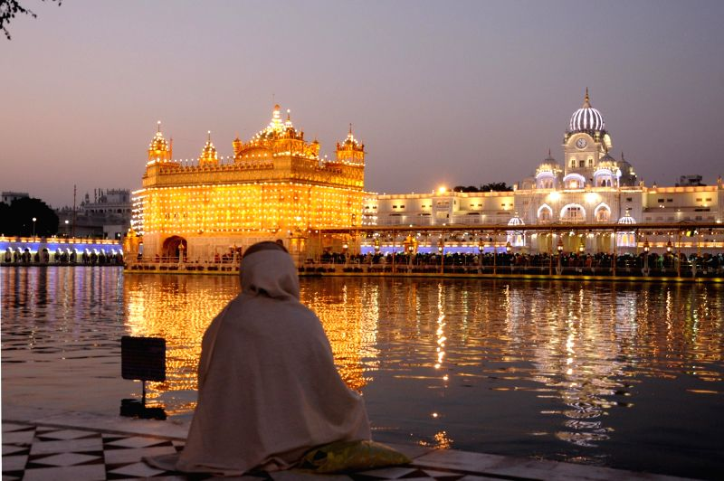 A view of spectacularly illuminated Golden Temple on Guru Nanak Jayanti, in Amritsar.