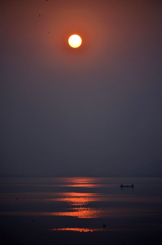 A view of sunset in Allahabad on Nov 18, 2015.