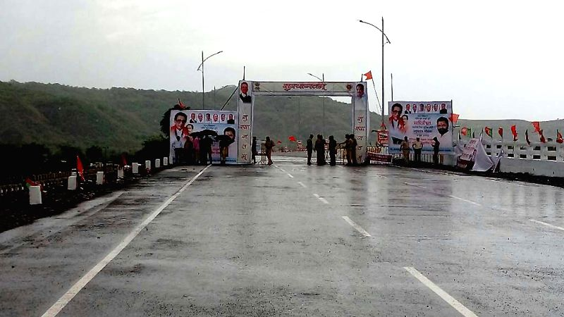 New bridge constructed in record time of 165 days on Savitri River