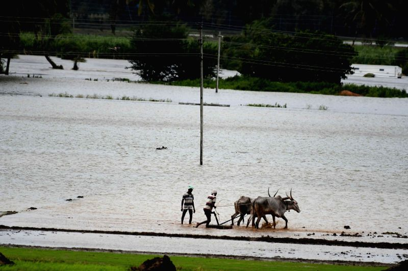 A view of the flood hit Mysuru on Aug 10, 2018.