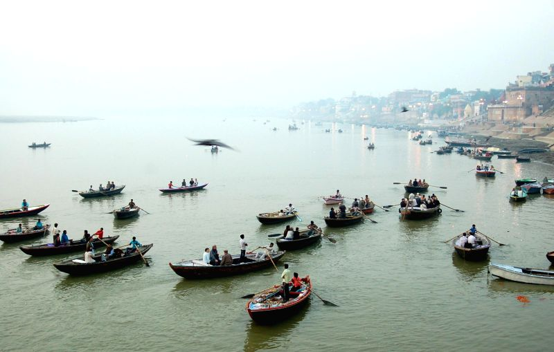 A view of the Ganga river from Varanasi, on March 11, 2015.