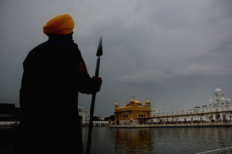 A view of the Golden Temple on an overcast day, in Amritsar on July 25, 2018.