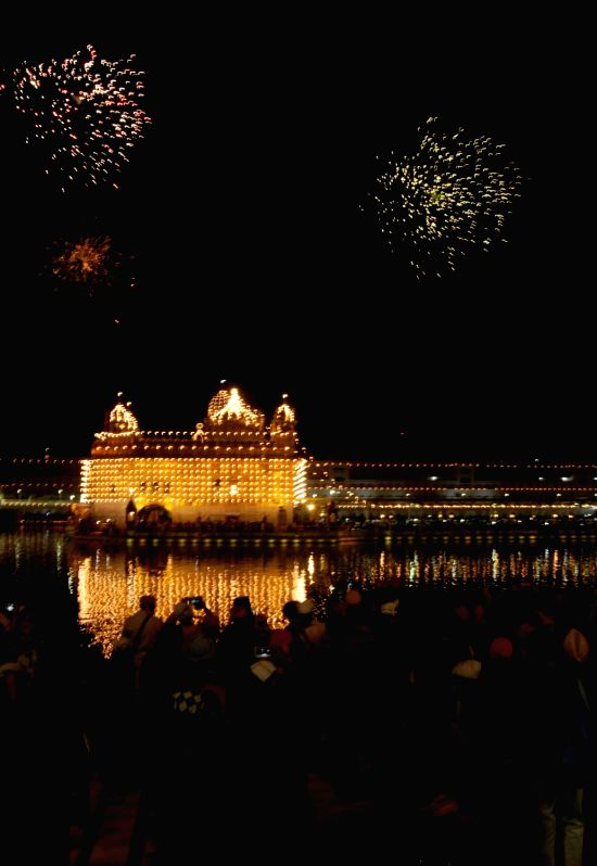 A view of the Golden Temple on the eve of Guru Nanak Jayanti in Amritsar, on Nov 25, 2015.