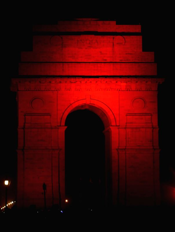 A view of the India Gate during an UN Women programme organised to launch 16 Days of Activism to End Violence Against Women at India Gate in New Delhi on Nov 25, 2015.