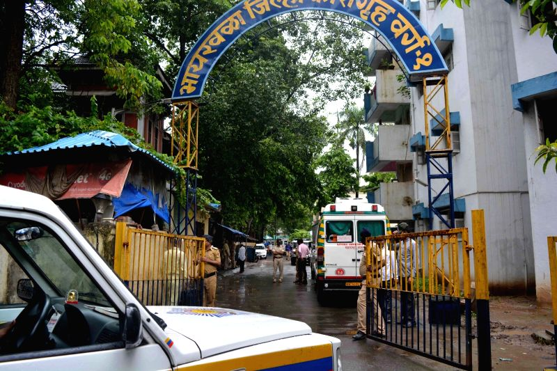 A view of the Mumbai women's jail from where at least 81 inmates were rushed to the government-run Sir J.J. Hospital due to suspected food poisoning,on July 20, 2018. A majority of the women ...