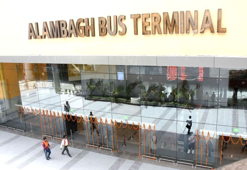 A view of the newly inaugurated first-of-its-kind, hi-tech Rs 232 crore Alambagh Bus Terminal, in Lucknow on June 12, 2018.