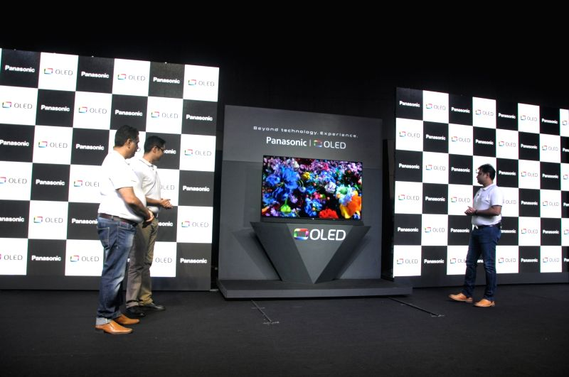 A view of the newly launched Panasonic OLED TV, at the launch of OLED TV series in India; in New Delhi on July 25, 2018. Panasonic India on Wednesday announced its debut in the OLED TV ...