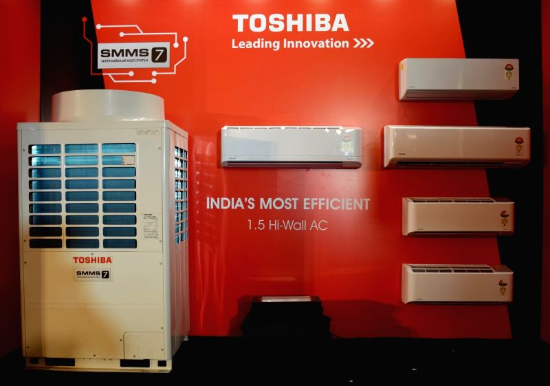 A view of the newly launched Toshiba Air Conditioners, at a launch programme, in New Delhi on July 12, 2018.