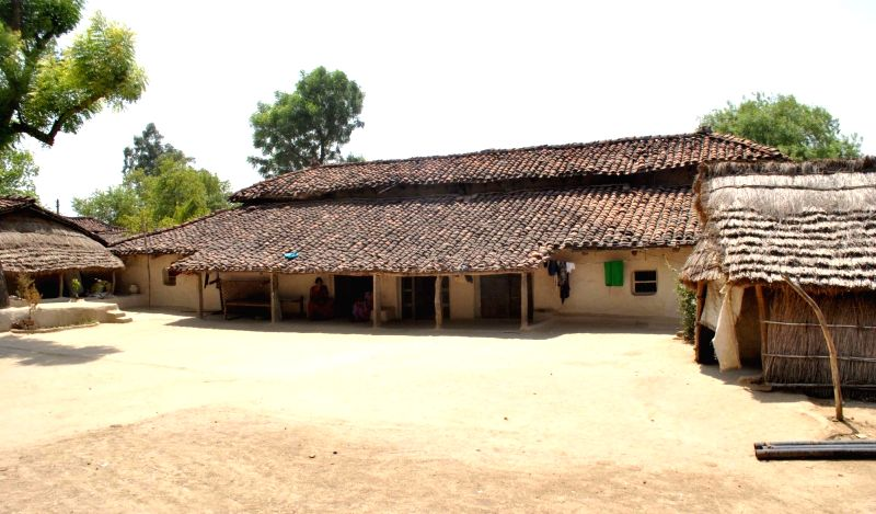 A view of the residence of Bhurtiya family where 81 members leaves under one roof in Bairaicha village under Koraon tehsil of Allahabad on May 14, 2016. The eldest member of the family ...