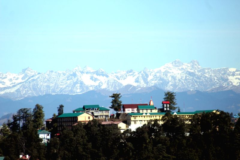 A view of the snow-covered mountains in Shimla, on Nov 24, 2018.