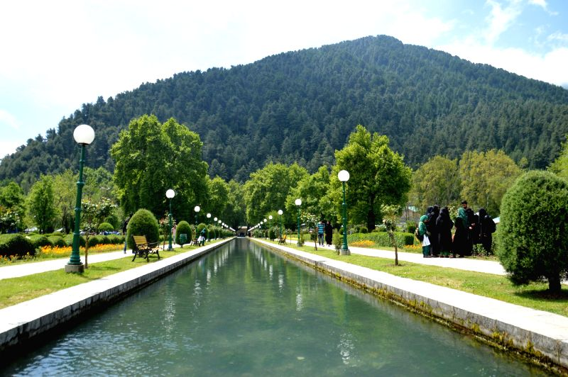 A view of Verinag Bagh in Anantnag district of Jammu and Kashmir on May 14, 2016.