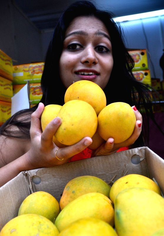 A woman at the Mango and Jackfruit Mela 2016 in Bengaluru, on May 31, 2016.