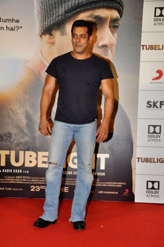 Aactor Salman Khan during the trailer launch of film Tubelight in Mumbai, on May 25, 2017. - Salman Khan