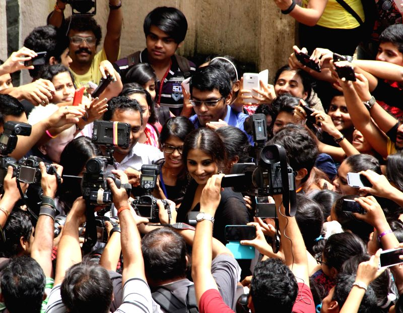 Aactor Vidya Balan during the launch and distribution of SmartCane and Plextalk Vachak function by The Xavier's Resource Centre for the Visually Challenged (XRCVC), St. Xavier's college, Mumbai on ... - Vidya Balan
