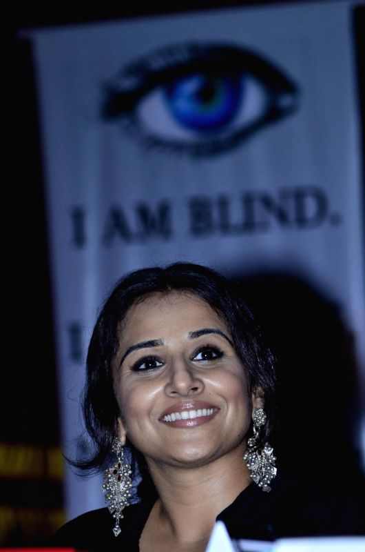 Aactor Vidya Balan during the launch and distribution of SmartCane and Plextalk Vachak function by The Xavier's Resource Centre for the Visually Challenged (XRCVC), St. Xavier's college, Mumbai on ...