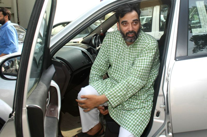 Aam Aadmi Party (AAP) leader Gopal Rai arrives to attend party legislators' meeting at Constitution club in New Delhi on June 18, 2014. - Gopal Rai